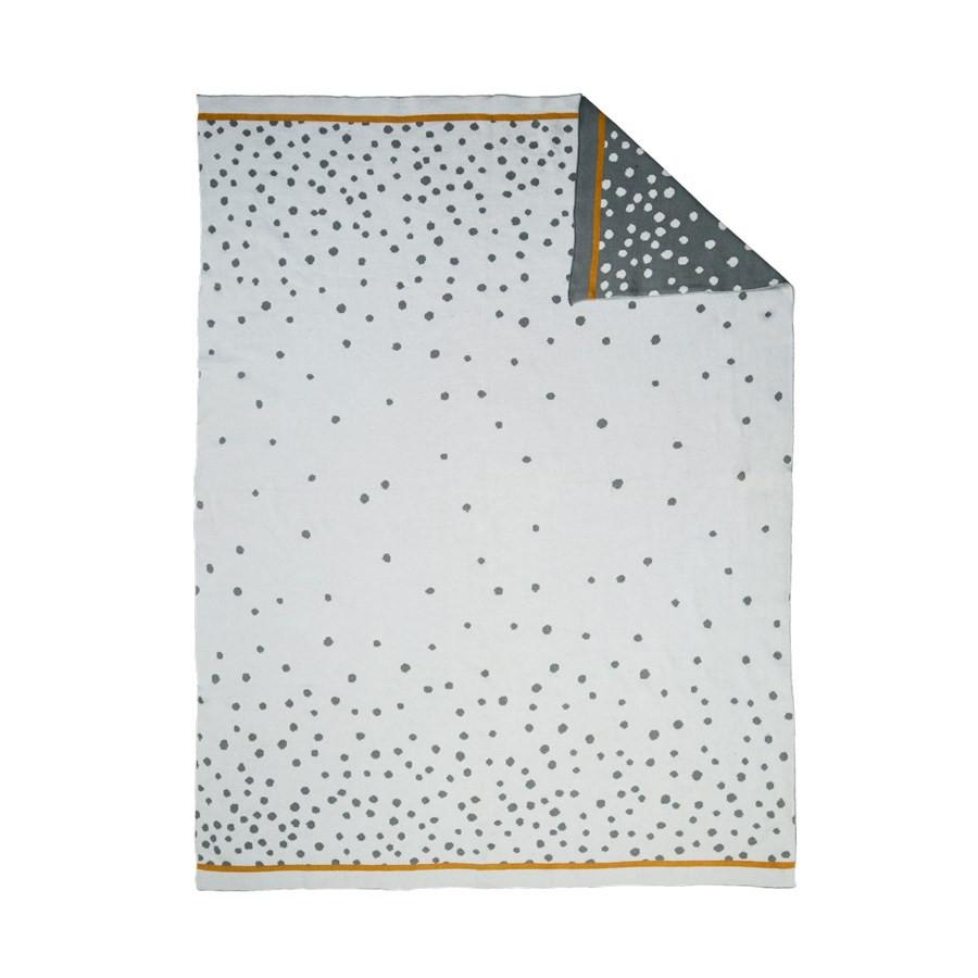 Κουβέρτα Πλεκτή Αγκαλιάς Done By Deer Happy Dots Grey BR72988