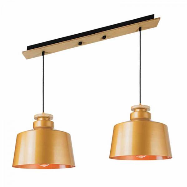 Φωτιστικό Οροφής Δίφωτο Zambelis 16149 Gold