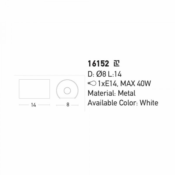 Απλίκα Τοίχου Zambelis 16152 White