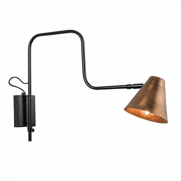 Απλίκα Τοίχου Zambelis 16162 Copper/Black