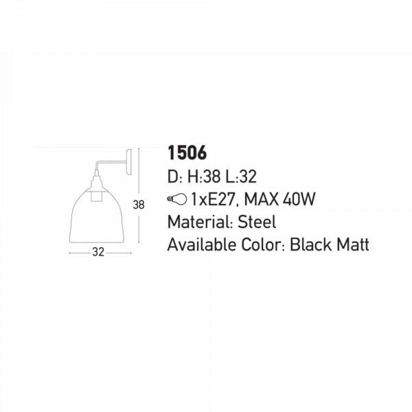 Απλίκα Τοίχου Zambelis 1506 Black Matt