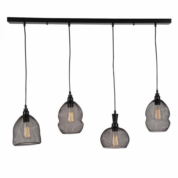 Φωτιστικό Οροφής Πολύφωτο Zambelis 1509 Black Matt