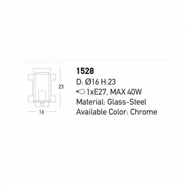Απλίκα Τοίχου Zambelis 1528 Chrome