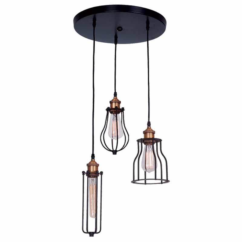 Φωτιστικό Οροφής Τρίφωτο Zambelis 1451 Black Matt