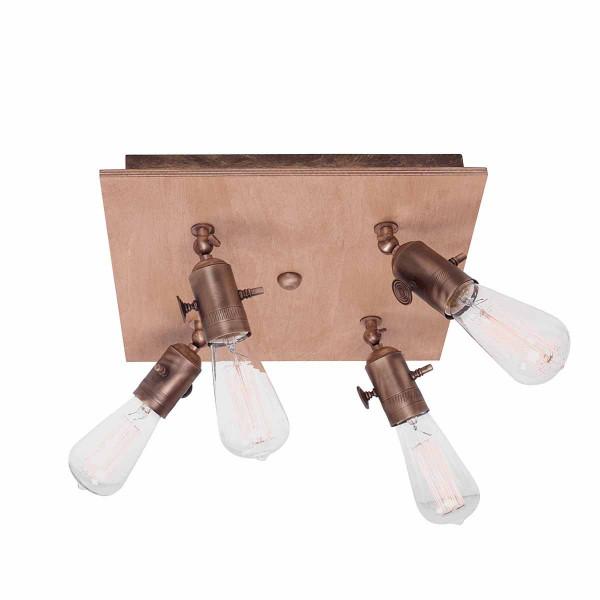 Φωτιστικό Πλαφονιέρα Zambelis 1480 Wood/Brass