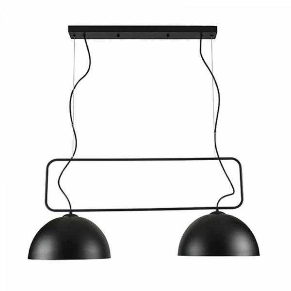 Φωτιστικό Οροφής Δίφωτο Zambelis 17155 Black Matt