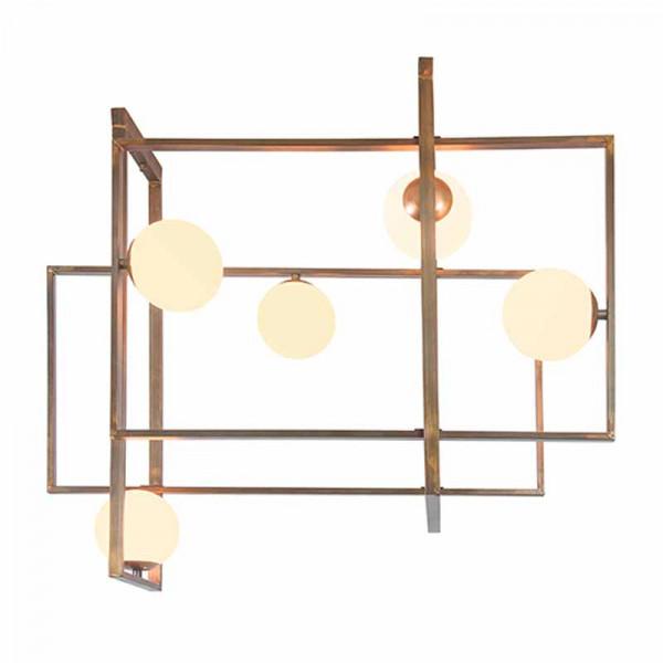 Φωτιστικό Οροφής Πολύφωτο Zambelis 17100 Copper