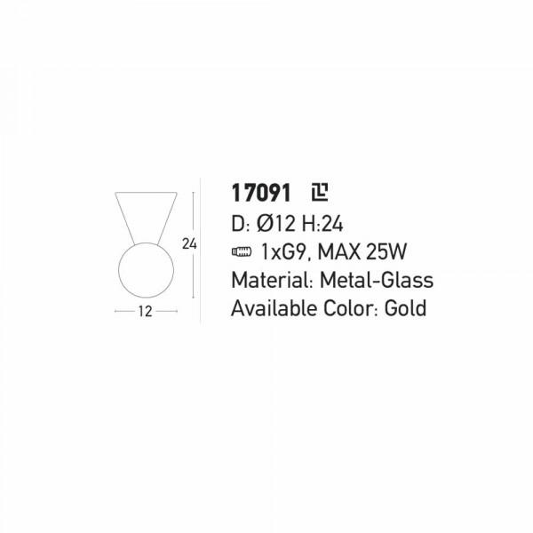 Φωτιστικό Οροφής Zambelis 17091 Gold