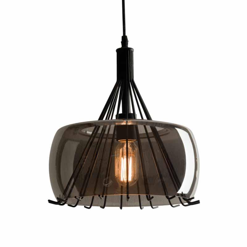 Φωτιστικό Οροφής Μονόφωτο Zambelis 1535 Smoked Grey