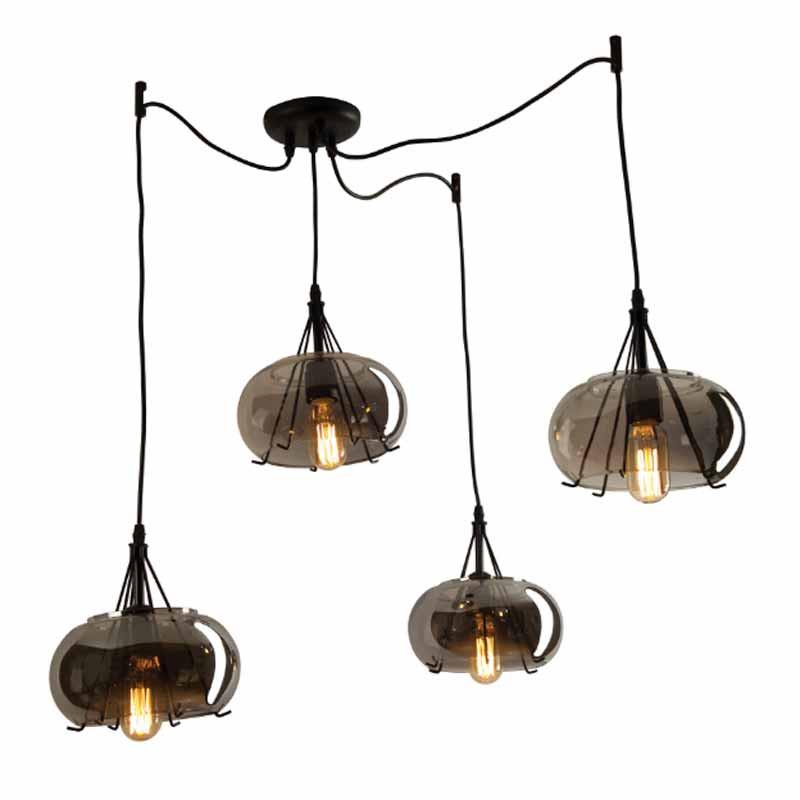Φωτιστικό Οροφής Πολύφωτο Zambelis 1536 Smoked Grey