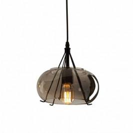 Φωτιστικό Οροφής Μονόφωτο Zambelis 1539 Smoked Grey