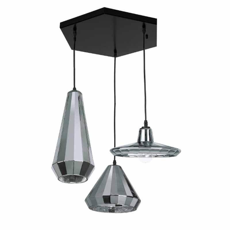 Φωτιστικό Οροφής Τρίφωτο Zambelis 1554-1 Chrome