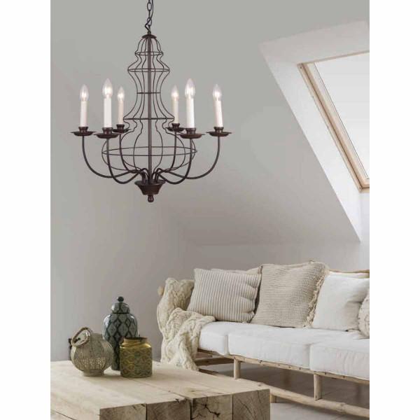 Φωτιστικό Οροφής Πολύφωτο Zambelis 17115 Brown