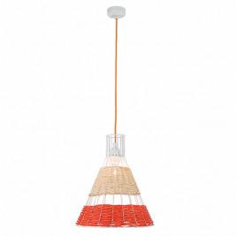 Φωτιστικό Οροφής Μονόφωτο Zambelis 17126 Ratan Orange