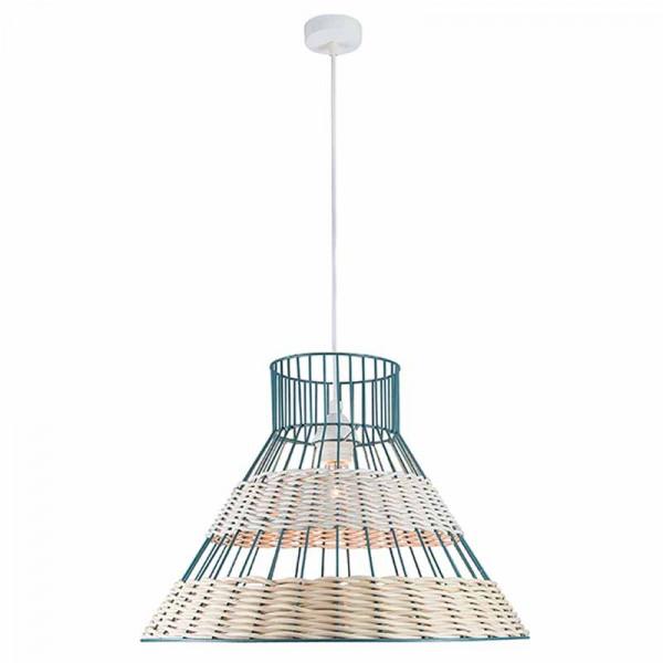 Φωτιστικό Οροφής Μονόφωτο Zambelis 17127 Ratan Blue