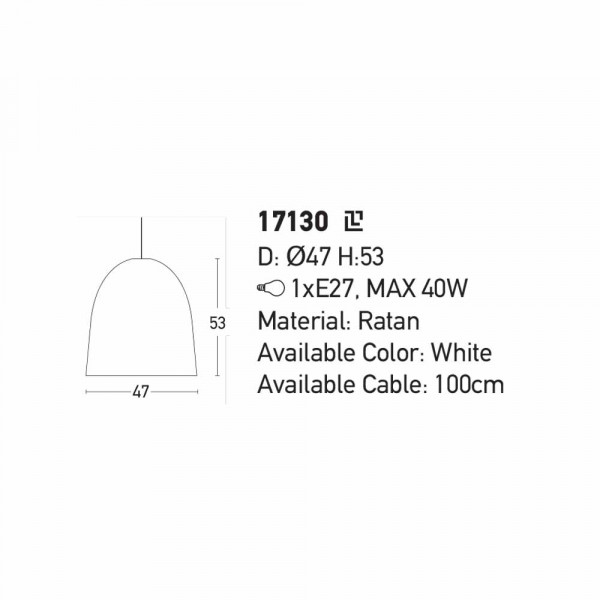 Φωτιστικό Οροφής Μονόφωτο Zambelis 17130 Ratan