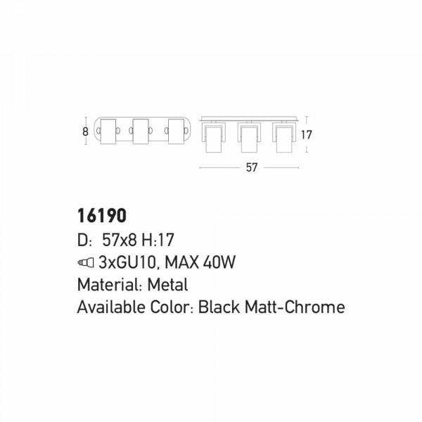 Σποτ Τρίφωτο Zambelis 16190 Black Matt
