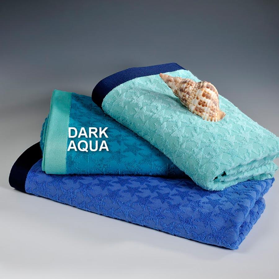 Πετσέτα Θαλάσσης Down Town Star Dark Aqua