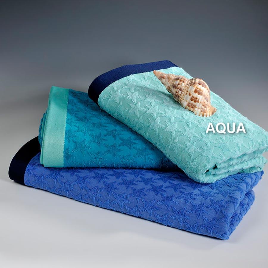 Πετσέτα Θαλάσσης Down Town Star Aqua