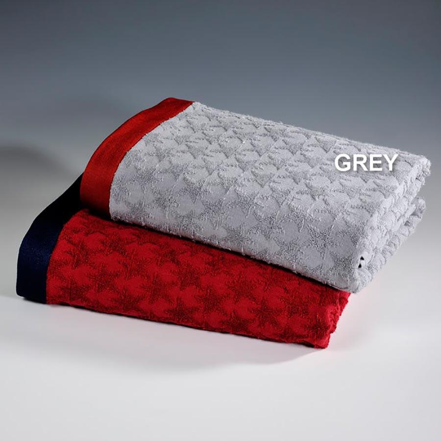 Πετσέτα Θαλάσσης Down Town Star Grey