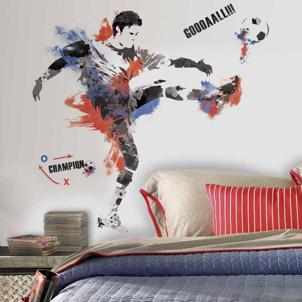 Παιδικό Αυτοκόλλητο Τοίχου RoomMates Ποδοσφαιριστής RΜΚ2490