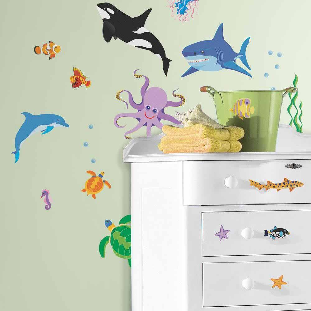 Παιδικά Αυτοκόλλητα Τοίχου RoomMates Ωκεανός RΜΚ-SΡD0002