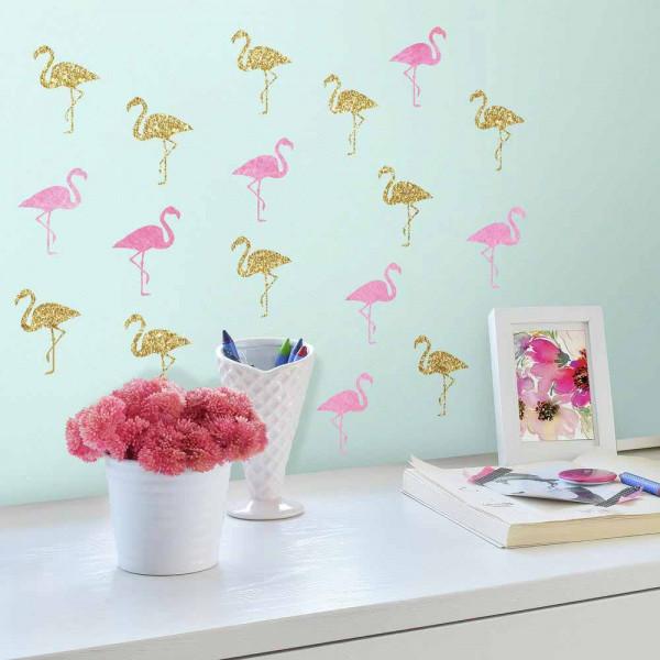 Παιδικά Αυτοκόλλητα Τοίχου RoomMates Flamingos RΜΚ3507