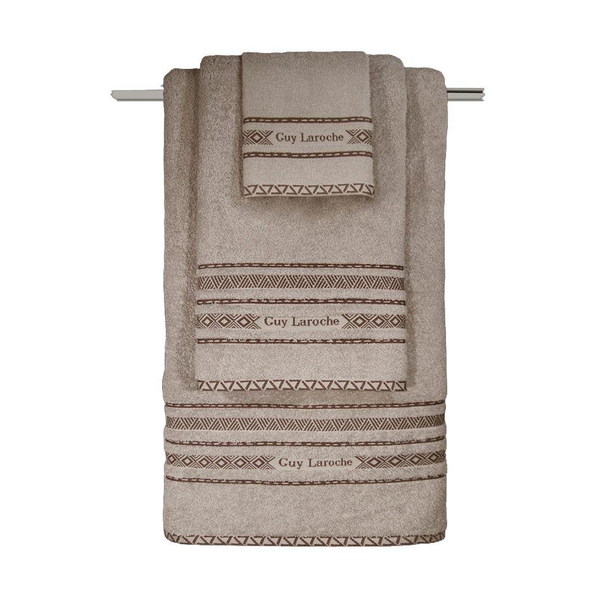 Πετσέτες Μπάνιου (Σετ 3τμχ) Guy Laroche Logna Natural