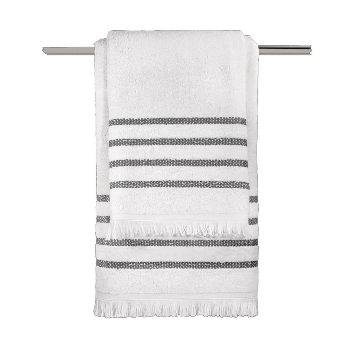 Πετσέτες Μπάνιου (Σετ 3τμχ) Guy Laroche Fabiana White