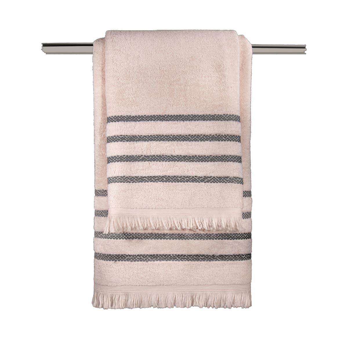 Πετσέτες Μπάνιου (Σετ 3τμχ) Guy Laroche Fabiana Old Pink