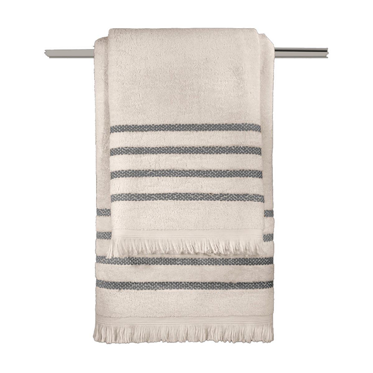 Πετσέτες Μπάνιου (Σετ 3τμχ) Guy Laroche Fabiana Beige