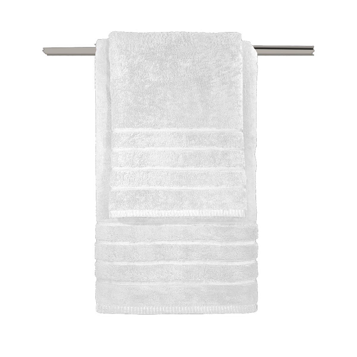 Πετσέτες Μπάνιου (Σετ 3τμχ) Guy Laroche Metzo White
