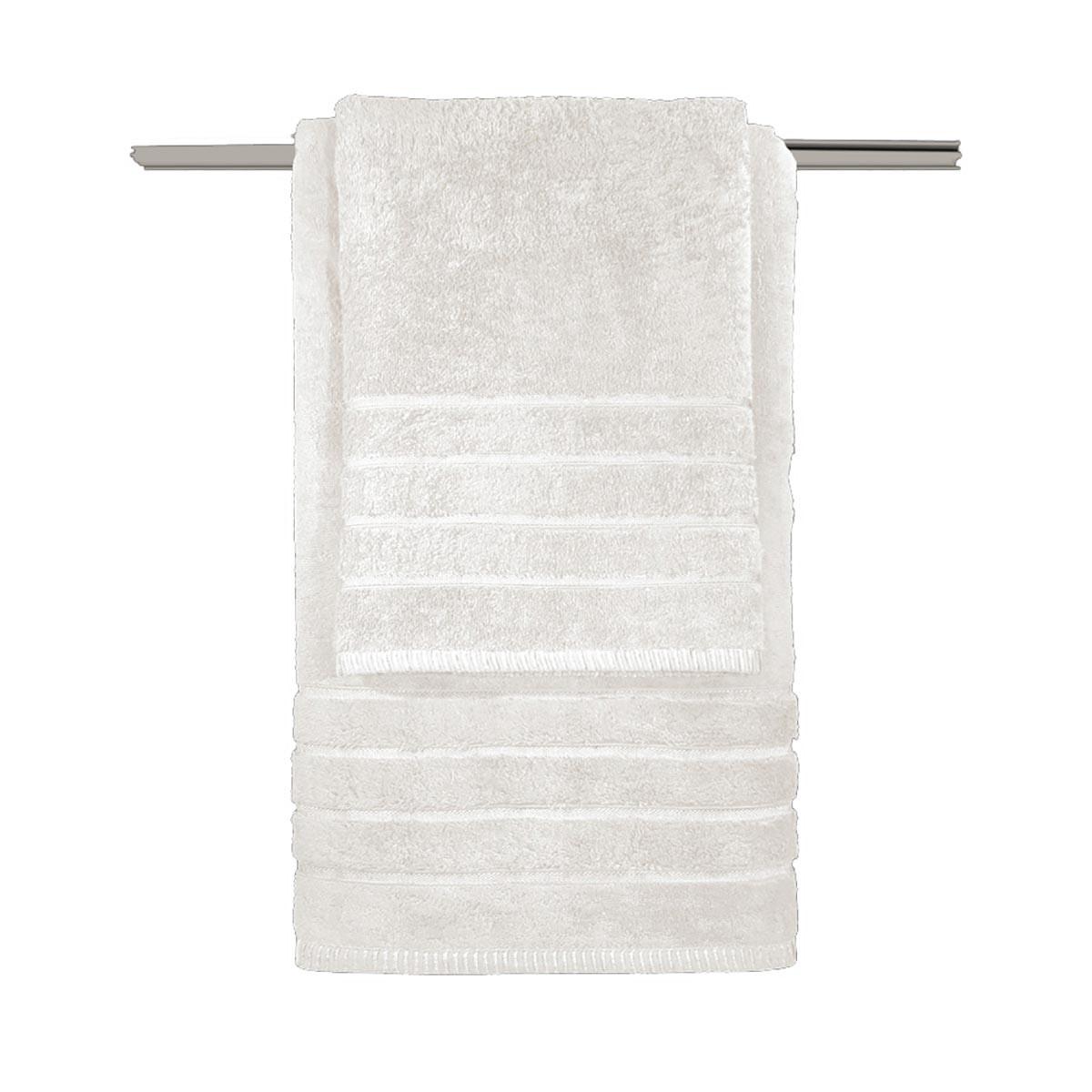 Πετσέτες Μπάνιου (Σετ 3τμχ) Guy Laroche Metzo Cream