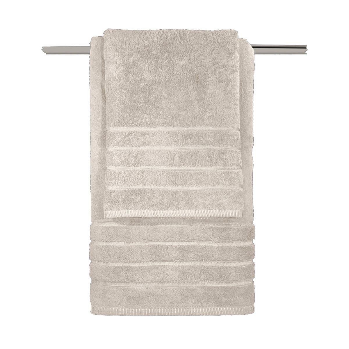 Πετσέτες Μπάνιου (Σετ 3τμχ) Guy Laroche Metzo Beige