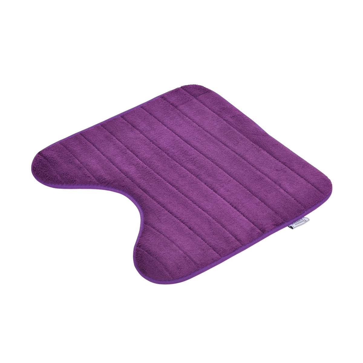 Πατάκι Λεκάνης (45×45) Vitamine Stripes Plum 6GMB335PR