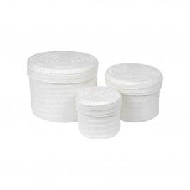 Κουτιά Αποθήκευσης (Σετ 3τμχ) Trendy White 6GMB424BC