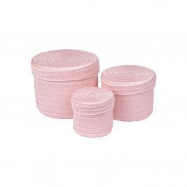 Κουτιά Αποθήκευσης (Σετ 3τμχ) Trendy L.Pink 6GMB424RS