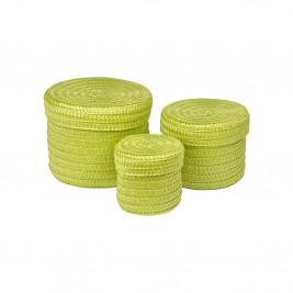 Κουτιά Αποθήκευσης (Σετ 3τμχ) Trendy Lime Green 6GMB424VC