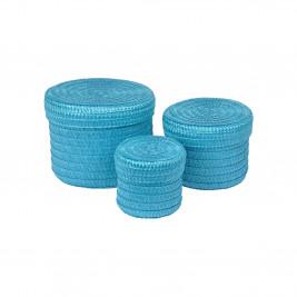 Κουτιά Αποθήκευσης (Σετ 3τμχ) Trendy Ocean Blue 6GMB424BL