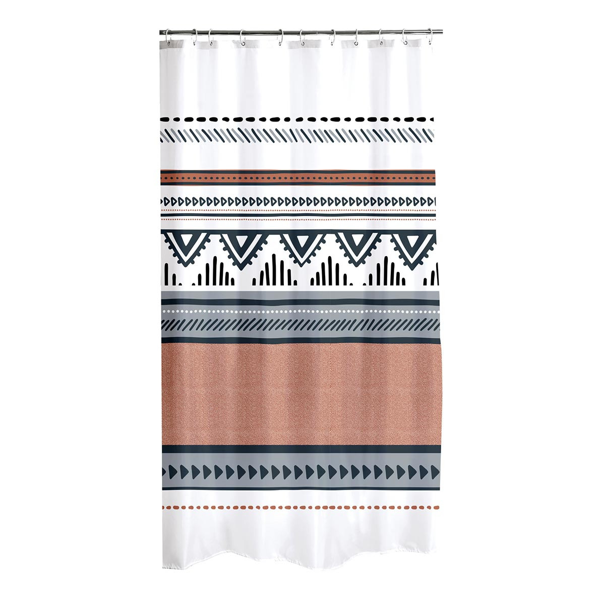 Κουρτίνα Μπάνιου (180×200) Ethnic Folk 6RD199