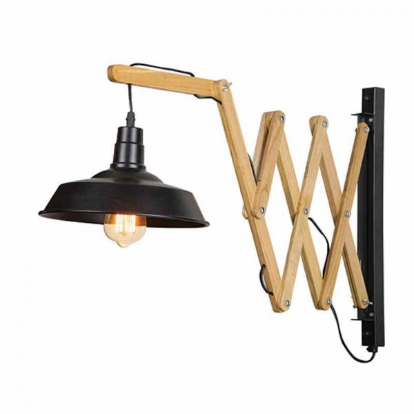 Απλίκα Τοίχου Zambelis 16166 Wood/Black