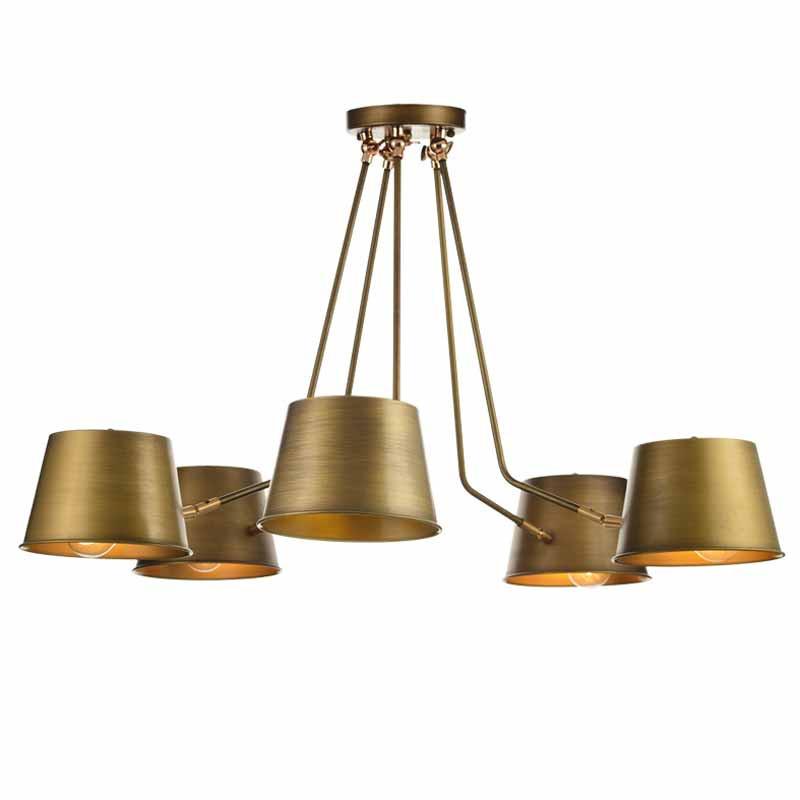 Φωτιστικό Οροφής Πολύφωτο Aca KS19855PBR Bronze Matt