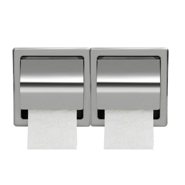 Χαρτοθήκη 2 Θέσεων Με Καπάκι PamCo 110-001 Inox