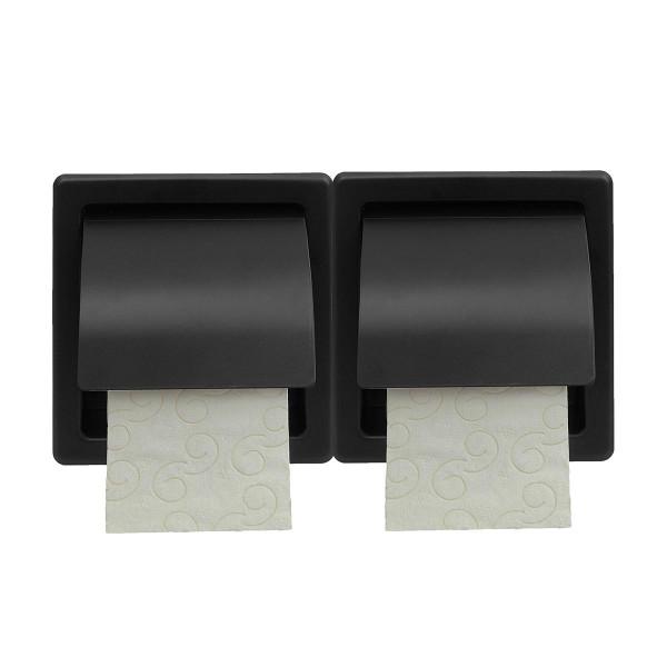 Χαρτοθήκη 2 Θέσεων Με Καπάκι PamCo 110-403 Black Matte