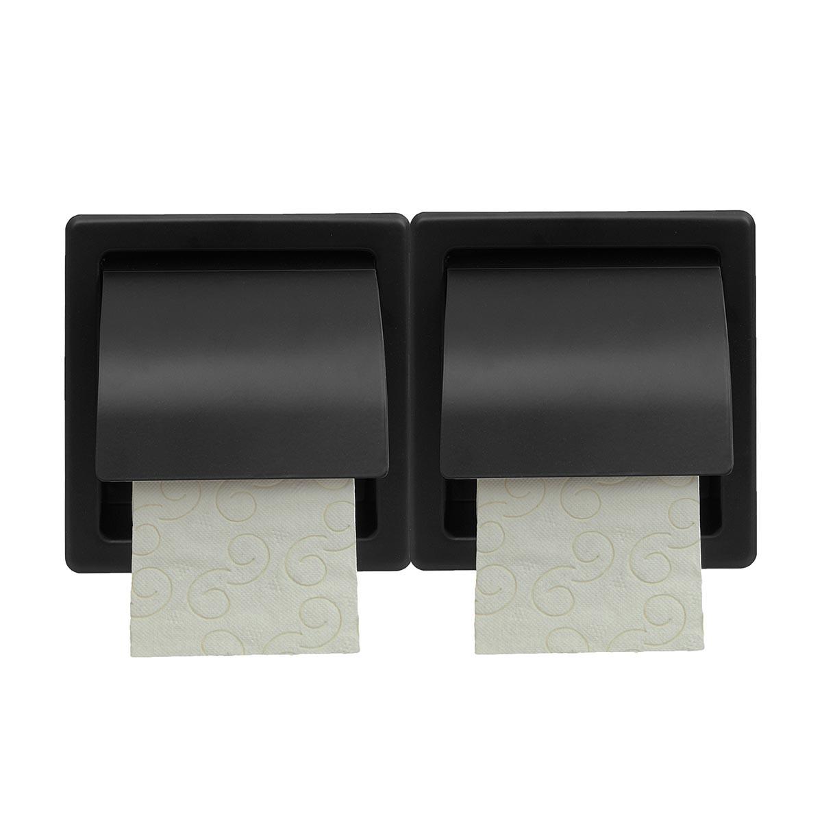 Χαρτοθήκη 2 Θέσεων Με Καπάκι PamCo 110-403 Black Matt