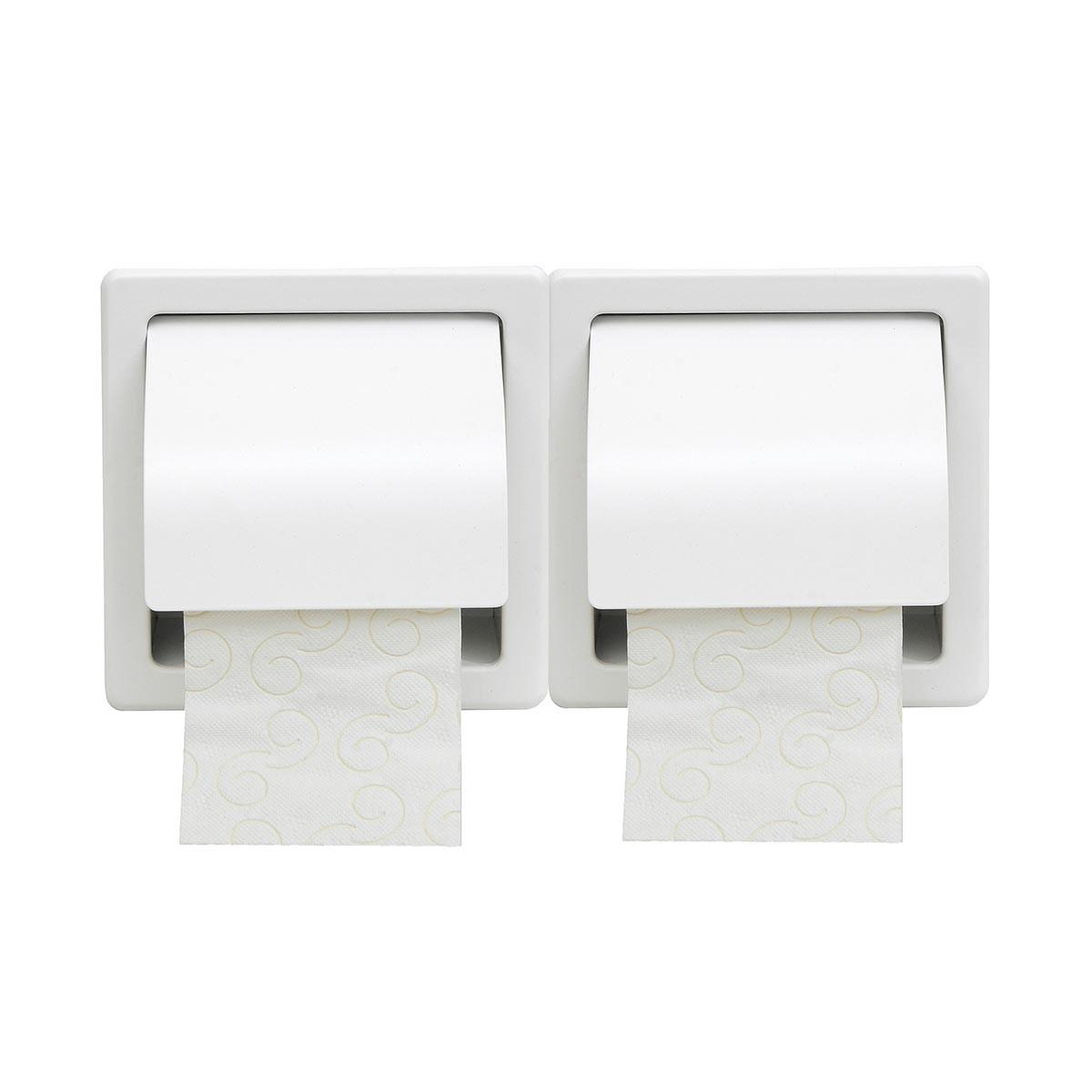 Χαρτοθήκη 2 Θέσεων Με Καπάκι PamCo 110-033 White Matte