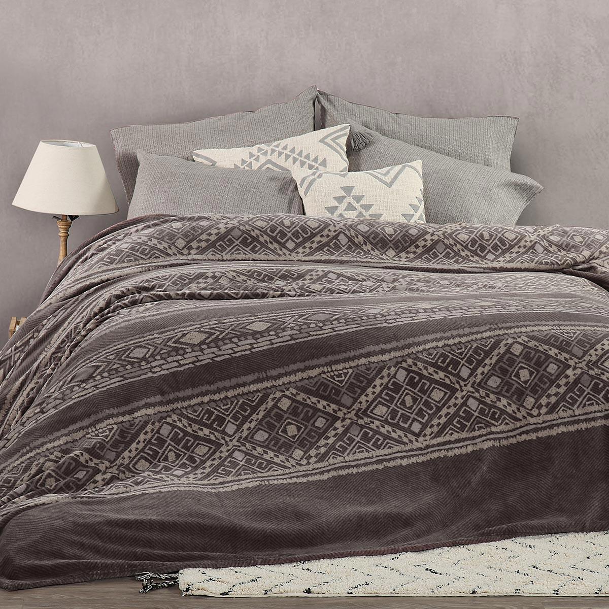 Κουβέρτα Fleece Μονή Nef-Nef Ganna Anthracite