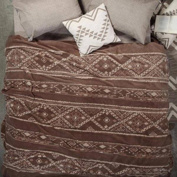 Κουβέρτα Fleece Υπέρδιπλη Nef-Nef Ganna Taupe