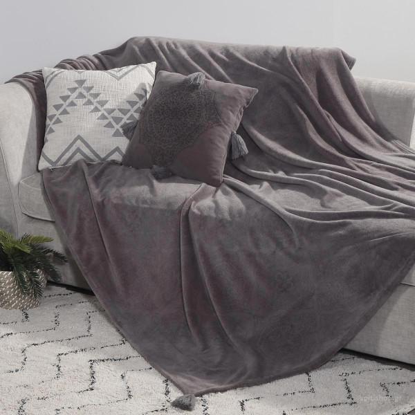 Ριχτάρι Πολυθρόνας Fleece (130x170) Nef-Nef Ava Grey