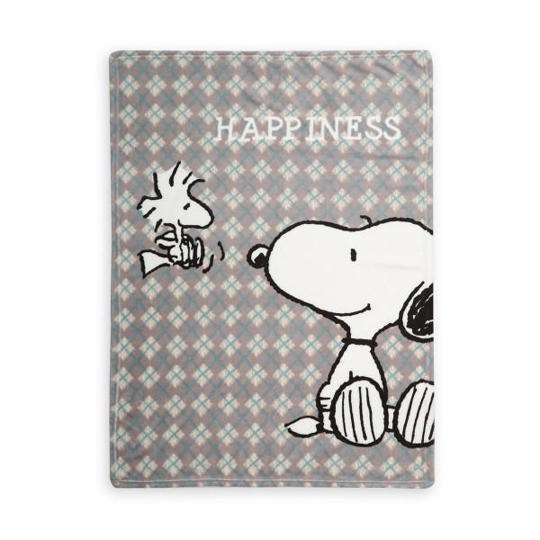 Κουβέρτα Fleece Κούνιας Nef-Nef Snoopy Happiness